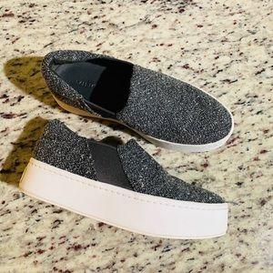 Vince Warren Charcoal Tweed Sneaker Sz 5